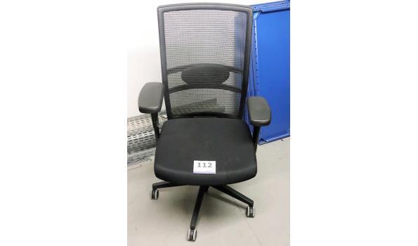verr bureaustoel DONATI, zwarte stof bekleed