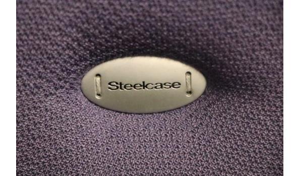 verr directiestoel, STEELCASE, paarse stof bekleed