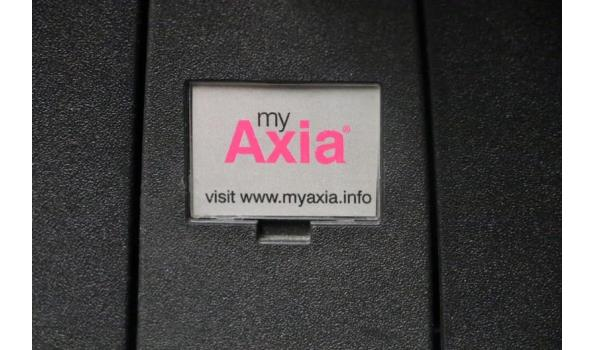 verr directiestoel, MY AXIA, blauwe stof bekleed