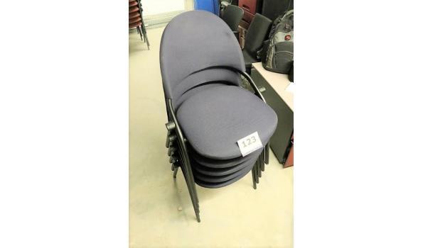 5 stapelbare stoelen, SEDUS, stof bekleed