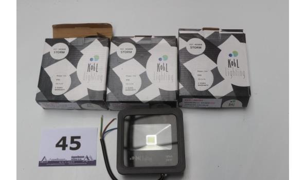 4 kleine buiten led lampen KOHL Lighting, 10w