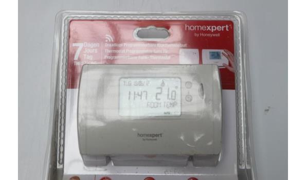 draadloze klokthermostaat en 2 thermostatische kraansets HONEYWELL