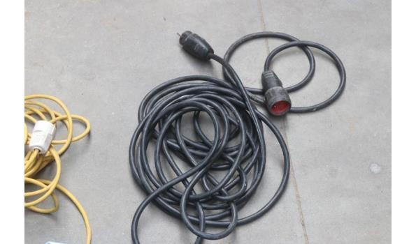 2 elektrakabels plus stekkerdoos
