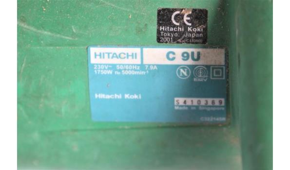 cirkelzaag HITACHI C9u, 1750w, 230v, werking niet gekend