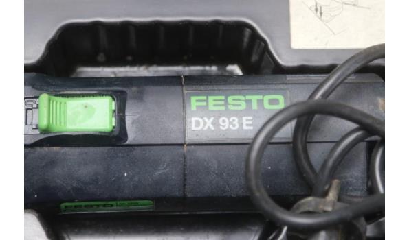 hoekschuurmachine FESTOOL DX 93E, werking niet gekend