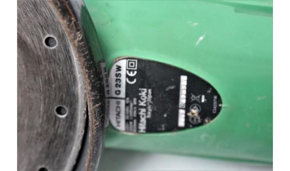 haakse slijpmachine HITACHI G23SW, werking niet gekend