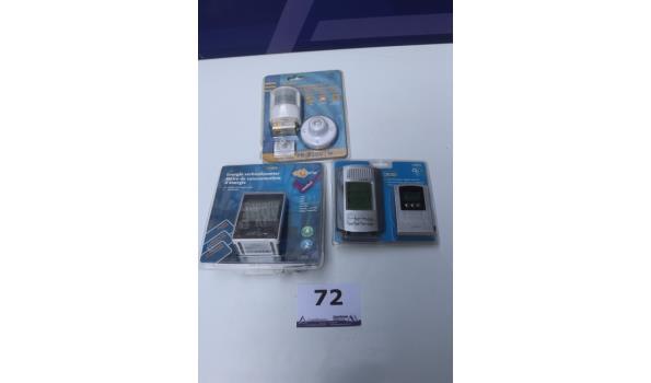 thermometer, verbruiksmeter en bewegingssensor