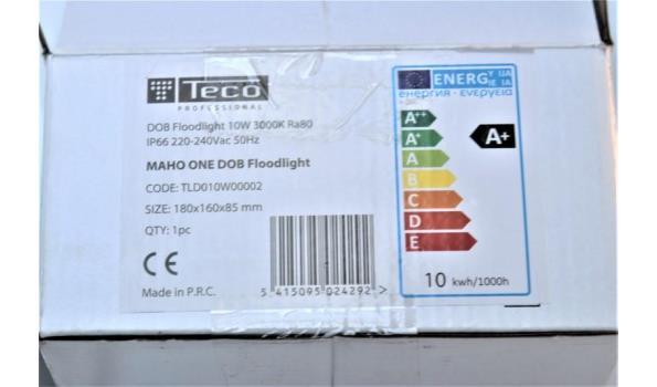 dob floodlight TECO 10w, werking niet gekend