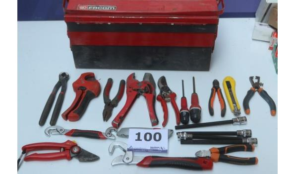 stalen gereesschapskoffer FRACOM plus gereedschap