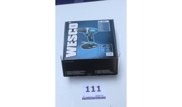 niuewe accu boormachine WSCO WS2971, werking niet gekend