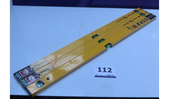 3 nieuwe waterpassen STABILA l 100cm, type 70