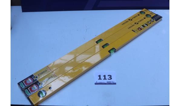 4 nieuwe waterpassen STABILA l 100cm, type 70