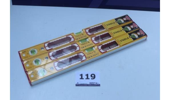 3 nieuwe waterpassen STABILA 196-2, 60cm