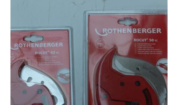 3 professionele kunststofscharen ROTHENBERGER 2x Rocut 42TC, 1x Rocut 50tc