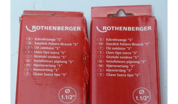 2 hoekpijptangen ROTHENBERGER 7,0123x