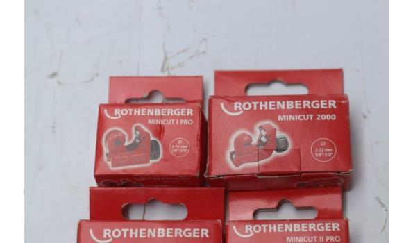 7 buizensnijders ROTHENBERGER w.o. 3x Minicut 2000