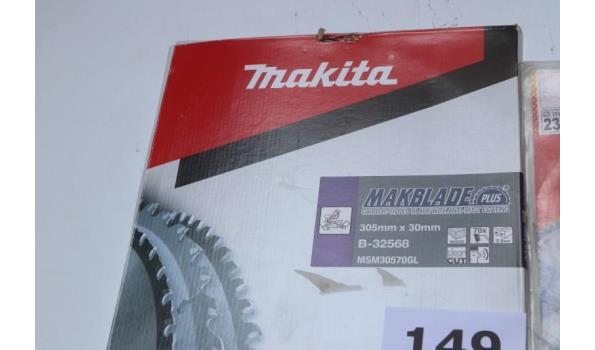 2 cirkelzaagbladen w.o. MAKITA B-32568, 305x30mm