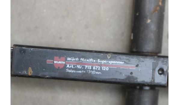 3 snelspanlijmtang WURTH Maxifix superspanner, 1200mm