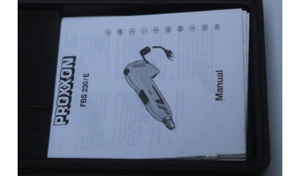 fijnboorslijper PROXXON FBS 230/E, werking niet gekend