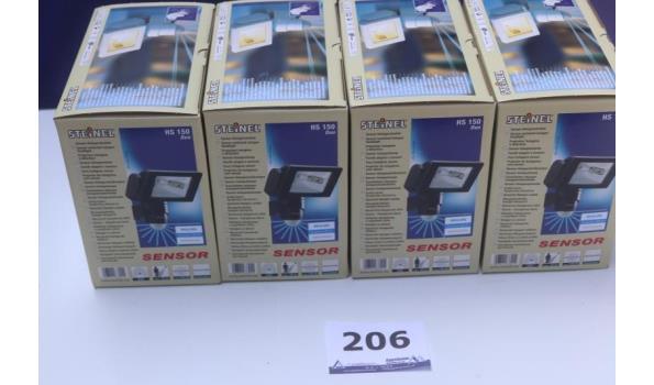 4 sensor halogeenlampen STEINEL HS 150 duo