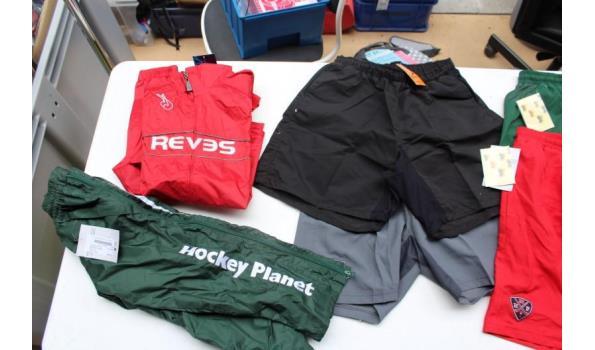 lot div hockeykleding wo shorts, polo