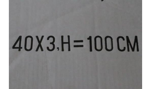 rechth wandspiegel, afm plm 100x40cm
