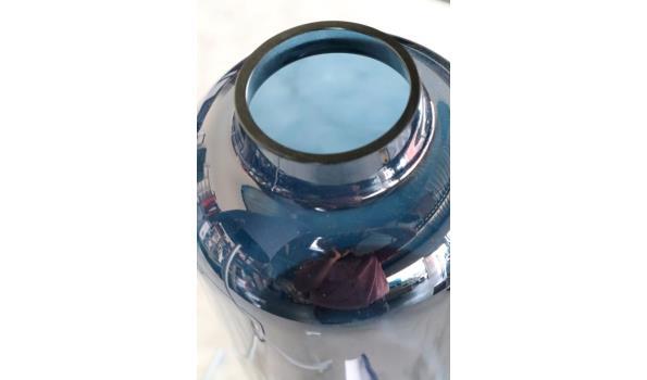 design tafellamp plus glazen vaas