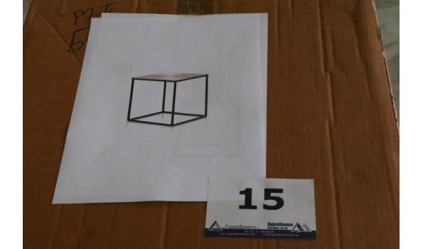 design bijzettafel, afm plm 40x40cm