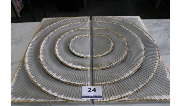 2-delige wandkader, afm plm 90x50cm