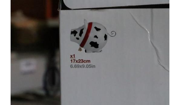 spaarvarken, afm plm 17x23cm