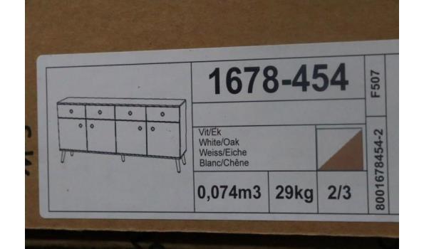 commode vv 4 deuren en 4 laden, afm plm 192x86x43cm