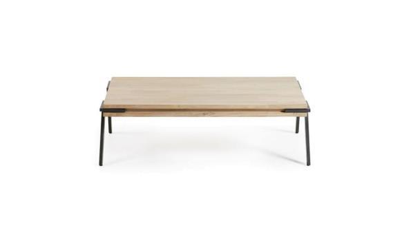 salontafel vv houten bovenblad, afm plm 125cm