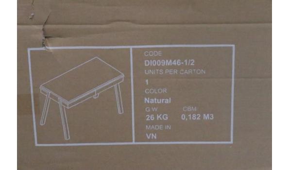 design bureautje vv 2 laadjes, afm plm 125cm