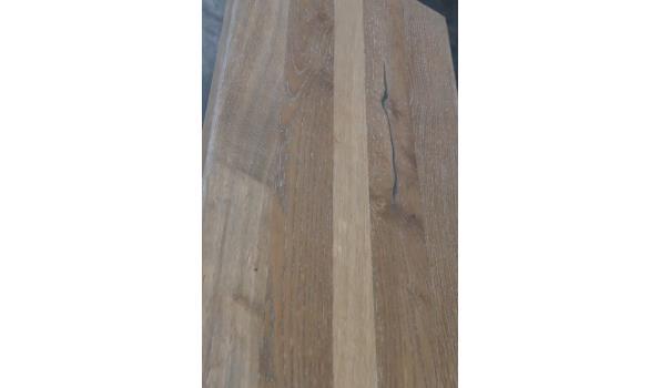 open commode vv 2 houten planken, afm plm 100x40x78cm
