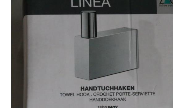 3 handdoekhaken ZACK, Linea