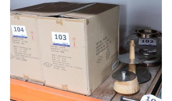 12 glazen vaasjes h plm 19cm