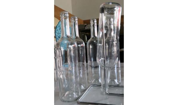 lot diversen wo glazen flessen