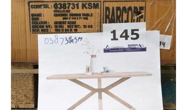 design eetkamertafel, afm plm 200x110x77cm