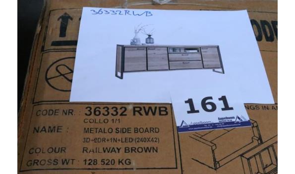 design commode, vv 3 deuren en 2 laden, afm plm 240x42cm