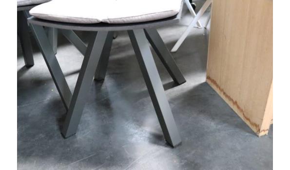 6 design eetkamerstoelen, stof bekleed