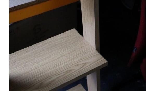houten open opbergstelling, h plm 80cm