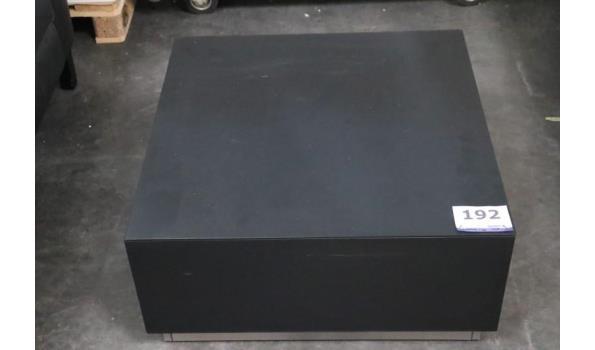 vierkant salontafel vv 2 laden, afm 75x75x36cm, beschadigd