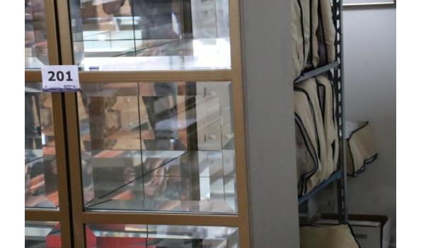 2-deurs vitrinekast
