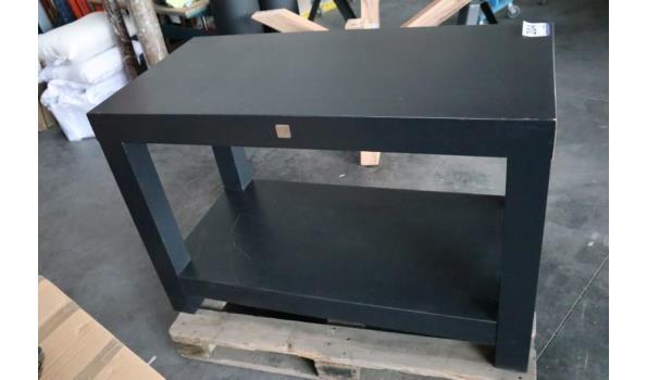 rechth houten open commode, beschadigd, afm plm 120x60x80cm