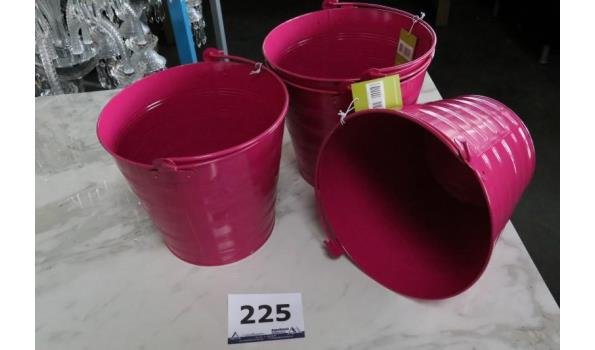 4 bloempotten paars