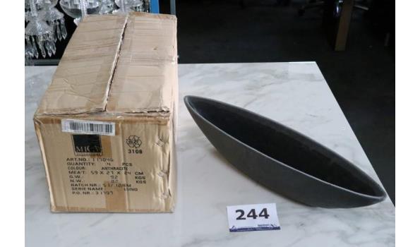 4 design schalen, afm plm 59x27x24cm