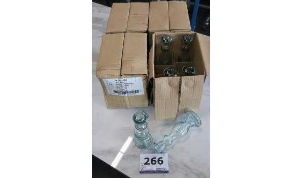 4 dozen à 4 decoratieve glazen kaarsenhouders, h plm 20cm
