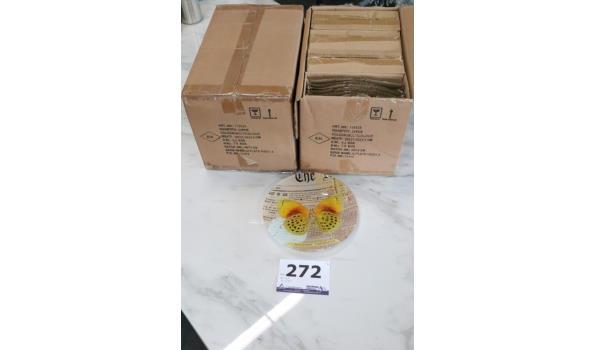 2 dozen à 24 st decoratieve borden, diam plm 21,5cm