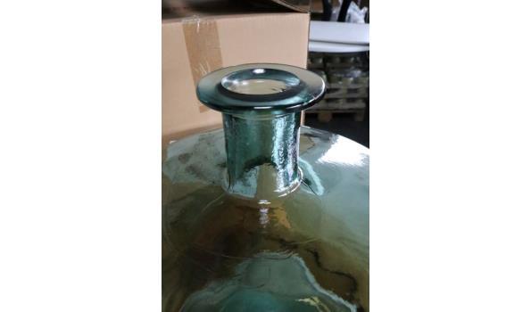 decoratieve glazen bokaal, groen, diam plm 36cm, h plm 45cm