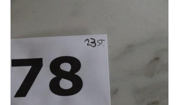 23 glazen bokaaltjes, diam plm 12,5cm, h plm 18,cm